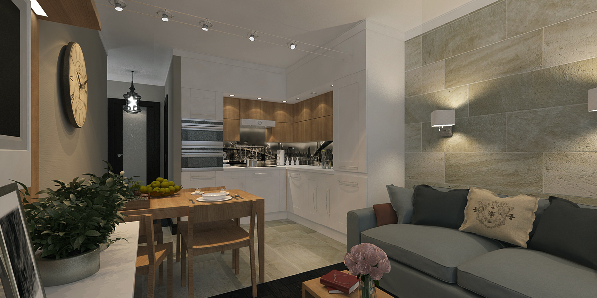 Дизайн кухня-гостиная 20 кв м